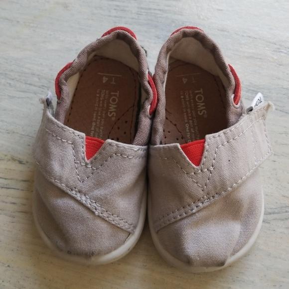 997282e7c2a Toms Baby Toddler 4T grey orange velcro closure